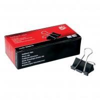 5 Star Office Foldback Clips 32mm Black [Pack 12]