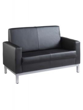 2 Seater Sofa Chair - Black