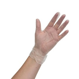 Clear Vinyl Gloves Powder-free M (Pack of 100)