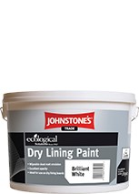 Johnstone's DRY LINING PAINT BRILLIANT WHITE 10L