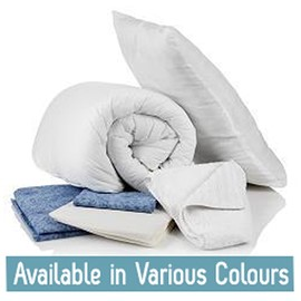Bedding Pack- Double - White - 50/50 Polycotton -
