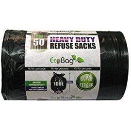 Heavy Duty Black Refuse Sacks (Pack of 300)