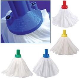 Big White Socket Mop BLUE (Pack of 10)
