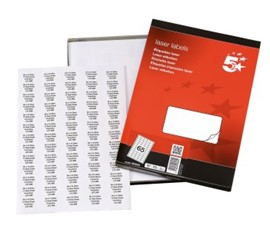 5 Star Office Labels 38.1x21.2mm White (x6500)