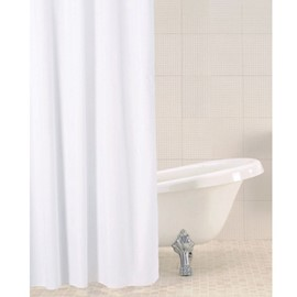 Solid Shower Curtain - White
