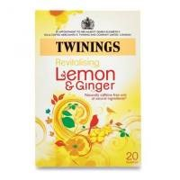Twinings Infusion Tea Bags Individually-wrapped Lemon and Ginger [Pack 20]