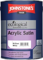 Johnstone's ACRYLIC SATIN BRILLIANT WHITE 1L